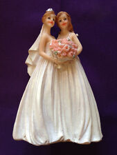 December Diamonds Same Sex Lesbian WEDDING CAKE TOPPER 2 BRIDES#76-76011