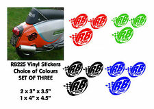 Lambretta Stickers RB225 Sticker SX GP TV LI Scooter Stickers 3 x Stickers Black