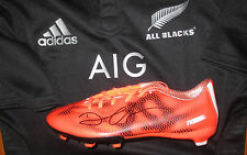 Dan Carter (NZ All Blacks) signed Adidas Football Boot - Man of Match RWC Final