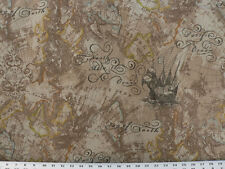 Drapery Upholstery Fabric Linen Base Cloth Vintage Nautical Design