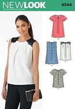 NEW LOOK SEWING PATTERN Misses' TOPS 2 LENGTHS  SIZE 8 - 20 6344