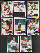 1980 / 1981 Topps Washington CAPITALS Team SET lot of 8 NM+ Mike GARTNER (R)