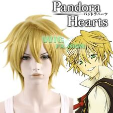 Pandora Hearts Oz.vessalius Short Yellow Blonde Anime Cosplay Hair Wig