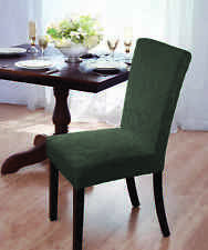 "VELVET ""STRETCH"" DAMASK DINING CHAIR COVER--BROWN--COMES IN 4 COLORS-CLEARANCE"
