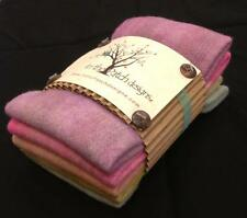 """Hand Dyed Felted Spring Wool Chunks 5 Piece 9"""" x 10"""" 5133 In the Patch"""