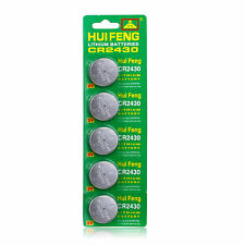 5X CR2430 2430 DL2430 ECR1620 BR2430 Alkaline Button Cell Coin Watch Batteries