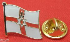 Northern Ireland Country Flag Lapel Hat Cap Tie Pin Badge Red Hand of Ulster