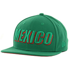 "New Era 9Fifty ""Country Cheer"" Mexico Snapback Hat (Kelly Green) Baseball Cap"
