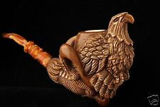 Eagle  in Claw Hand Carved Block Meerschaum Pipe in a fitted CASE 6018 New Model