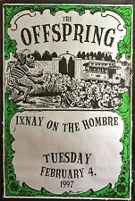"""THE OFFSPRING IXNAY ON THE HOMBRE POSTER 1997 58 1/2"""" X 39"""""""