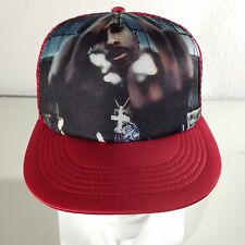 Trucker Hat SnapBack Tupac 2Pac Makaveli Adjustable Strap (RED)