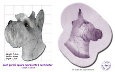 DOG; SCHNAUZER HEAD Craft Sugarcraft Wax Resin Sculpey Silicone Mould Mold