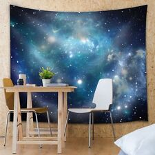 Shades of Blue Galaxies - Fabric Tapestry, Home Decor - 51x60 inches