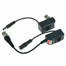 PAIR OF CCTV BNC VIDEO POWER BALUN RJ45 UTP CAT5 CABLE COAX TRANSCEIVER FOR DVR