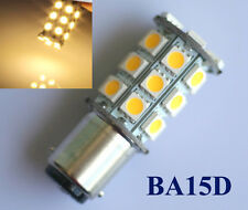 2x 1157 BA15D P21/5W 27 SMD 5050 12V LED Tail Brake Light Bulb Lamp Warm White