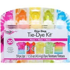 Neon 5-Color Tie Dye Kit Tulip NEW lime orange yellow fuchsia turquoise tye die