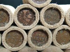 UNSEARCHED!! Wheat Penny Roll Capped with Indian Heads on Both Ends - R604