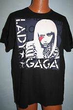LADY GAGA 2009 Concert Tour Style T-SHIRT Large POP ROCK