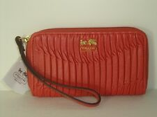 Coach Madison Gathered E/W Universal Case ~ 64998 Coral