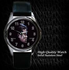 New Michael Jackson Round Leather Watch Gift