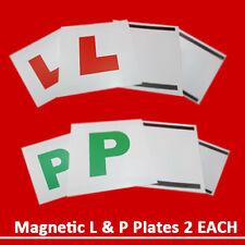 4 Pièces Magnétique L & P Plaques Set Pour Juste Passed Chauffeur Sécurité