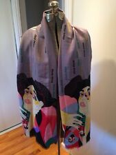 Women'sAuthentic Miu Miu Designer Cashmere Blend Large Scarf Japanese Women Rare