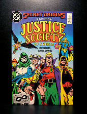 COMICS: DC: Secret Origins #31 (1980s), Justice Society of America -RARE (flash)