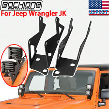 A-pillar Dual Cube Mount Brackets For Square Light Fit 2007~16 Jeep Wrangler JK