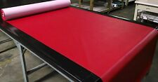 "10 YARDS CLASSIC RED FAUX LEATHER AUTO UPHOLSTERY FABRIC VINYL 54""W PLEATHER"