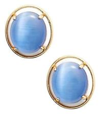 NEW Kate Spade Open rim Stud Earrings, Blue Cat's Eye & Gold $44
