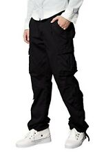 """Men Retro Cargo Trousers Chinos Trousers W32"""" regular High Quality Black RRP £38"""