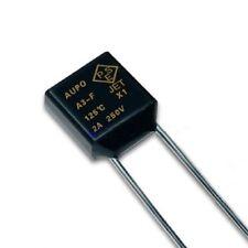 5 Pcs Aupo Thermal Fuse Cutoff TF 125℃ 250V 2A A3-F NEW CK