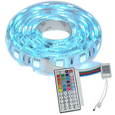 1M SMD RGB 5050 Waterproof LED Strip Light 60led DC 12V & 44 Key Remote DIY LED