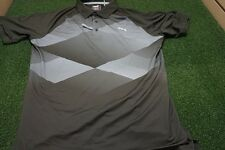 NEW Puma Golf Men's MEDIUM GT Argyle Performance Fit Polo Forest Night *Sample*