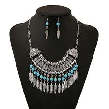 Crystal Choker Fashion Chunky Statement Women Chain Pendant Bib Necklace Retro