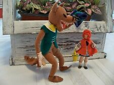 1940'S BAPS DOLLS RED RIDING HOOD AND THE BIG BAD WOLF FAIRY TALE FIGURES