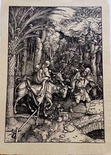 Durer Society 1503 Flight Egypt old laid paper original woodblock