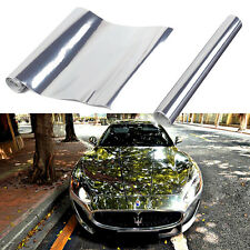 "Mirror Silver 12"" x 60'' PVC Vinyl Wrap Film Car Sticker Decal Sheet Bubble Free"
