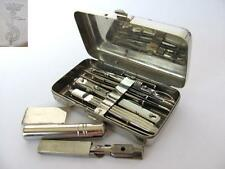 19C. ANTIQUE GERMAN MEDICAL SURGICAL SET AESCULAP IN METAL CASE VERY RARE