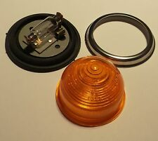 Large 50mm Amber Oil Warning Light 1940-70s save your engine Historic Rally Race