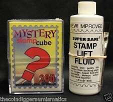Super Safe + Stamp Removing & Lifting Fluid 4 oz w/ Brush + 200 STAMP CUBE COMBO