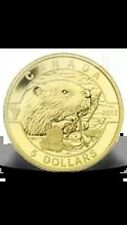 1/10 oz Pure Gold Coin - The Beaver - Mintage: 4000 (2013)   5 Dollars
