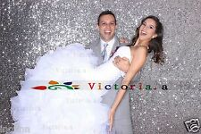 Silvery 4FT*6FT Photo Backdrop,Wedding Photo Booth, Photography Background