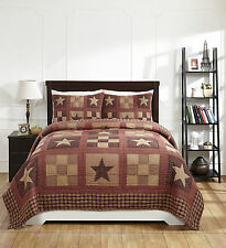 "3 Piece QUEEN ""BRADFORD STAR"" Quilted Bedding SET ~ Country, Primitive***NEW"