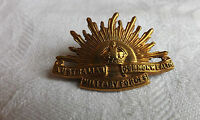 WW1 Military Australian Commonwealth Military Forces Cap Badge Marked (1734)