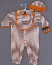 Infant First Halloween Costume Outfit 3 Pc Set 100% Cotton 6M Orange Unisex Baby