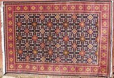 "Semi-Antique Geometric Tehran Persian Hand Knotted Wool Rug 6'-7"" x 9'-6"" Carpet"
