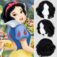 Snow White Princess Wig full curly wave black short hair wigs cosplay anime wigs