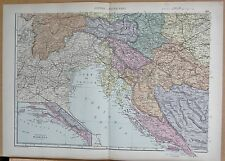 1890 grandi Vittoriano Map-AUSTRIA UNGHERIA South West Dalmazia Carinzia