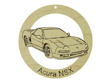 Acura NSX Natural Maple Solid Hardwood Ornament Sanded Finish Laser Engraved